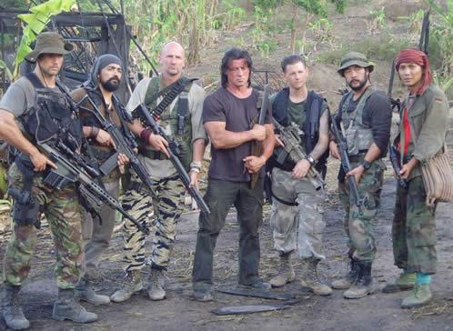 El grupeto de John Rambo...